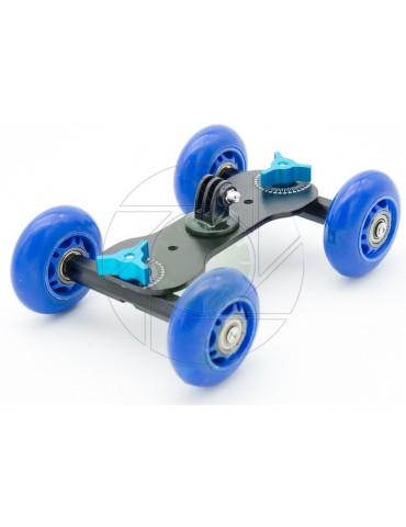 Metal Camera Dolly With Skateboard Wheels For GoPro, Action Cameras & Compact Cameras