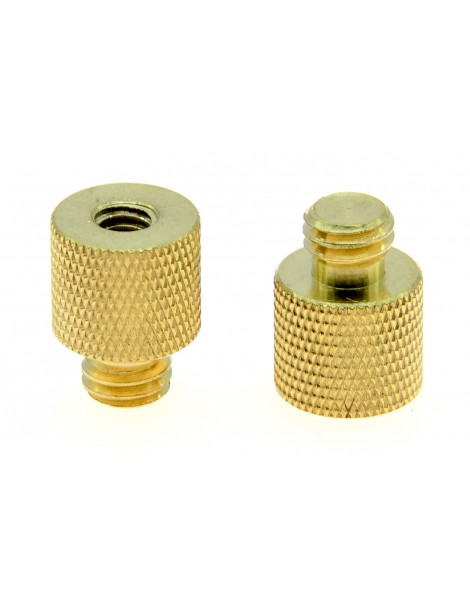 "1/4"" Female to 3/8"" Male Whitworth Camera Screw Adapter [Pack of 2]"