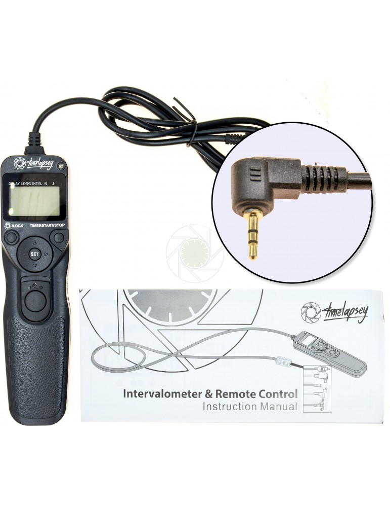 DSLR Intervalometer / Timer Shutter Release for Time-lapse Photography +  Astro Long Exposure (Canon E3 Cable)