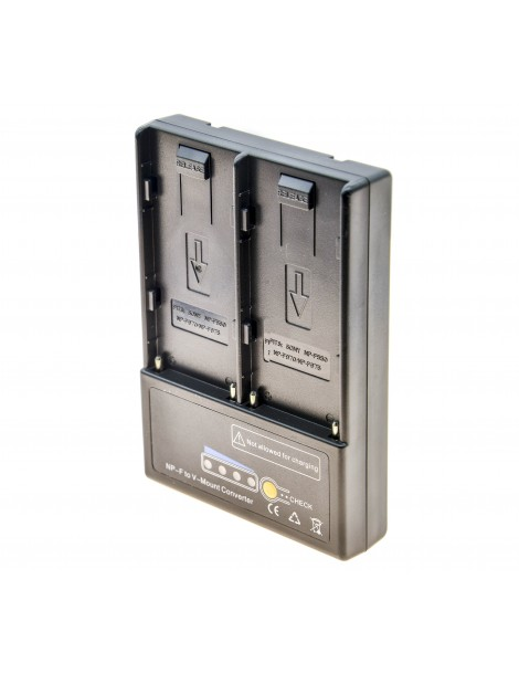 PROtastic V-mount V-lock Battery Adapter to 2x Sony NP-F Series Batteries