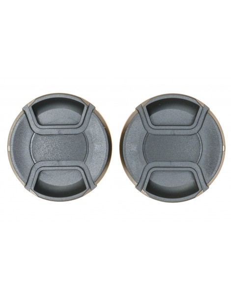 PROtastic Spring Loaded Pinch 62mm Lens Caps (Pack Of 2)
