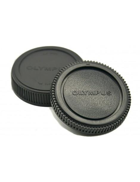 Rear Lens Cap & Body Cap For Olympus OM Cameras / Lens (BC-2 / LR-2)
