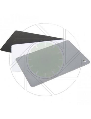 3 in 1 Exposure/Balance 18% Gray/White/Black Card Set & Lanyard
